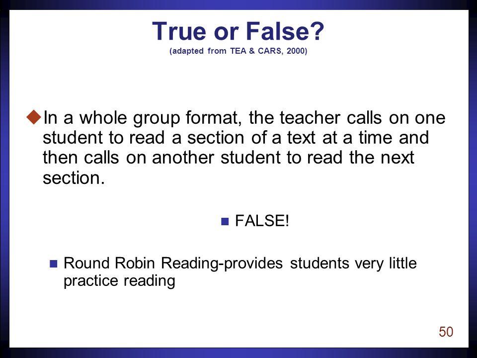 49 True or False.