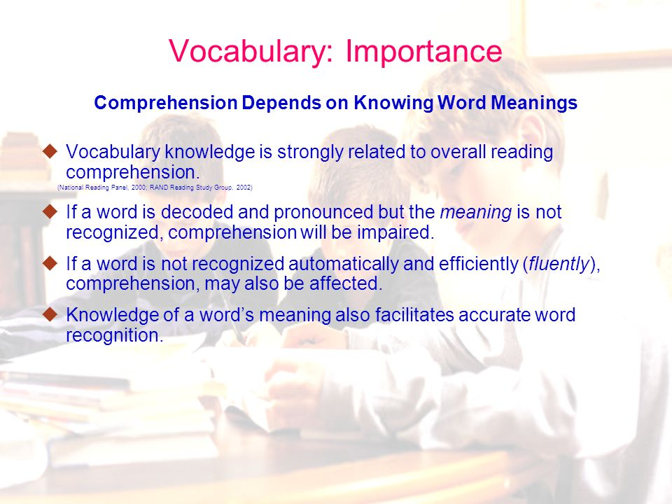 61 Four Critical Elements for More Robust Vocabulary Instruction Select the right words to teach – Tier 2 words Develop child-friendly definitions for these words Engage children in interesting, challenging, playful activities in which they learn to access the meanings of words in multiple contexts Find a way to devote more time during the day to vocabulary instruction