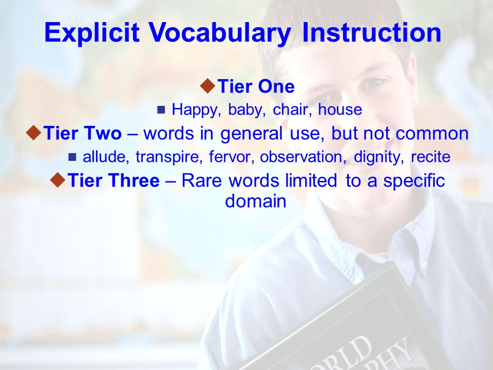 74 Explicit Vocabulary Instruction uSelect words that are unknown uSelect words that are critical to passage understanding.