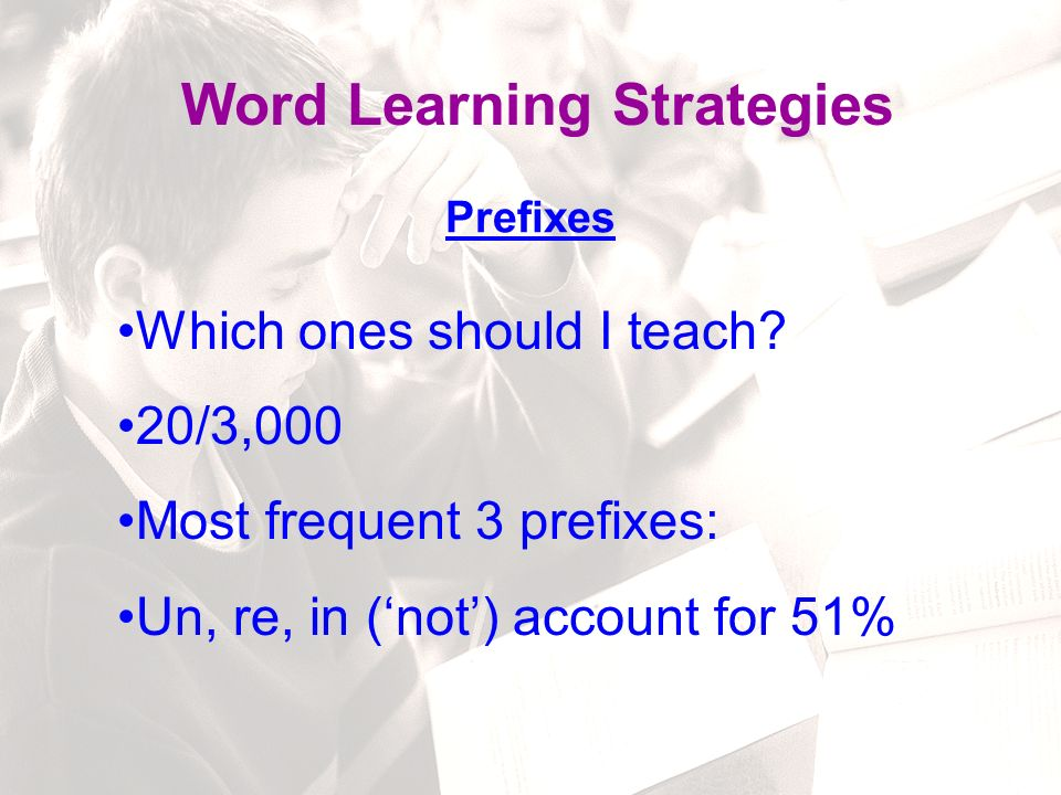 84 Word Learning Strategies uWords in play nearly all the time uFrequent use of words that have been taught uTaking any and all opportunities to add words to students' surroundings uStudents will become generally alert to words and word use, to become interested in words What is a Rich Verbal Environment