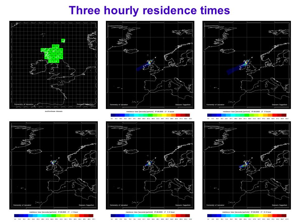 Three hourly residence times