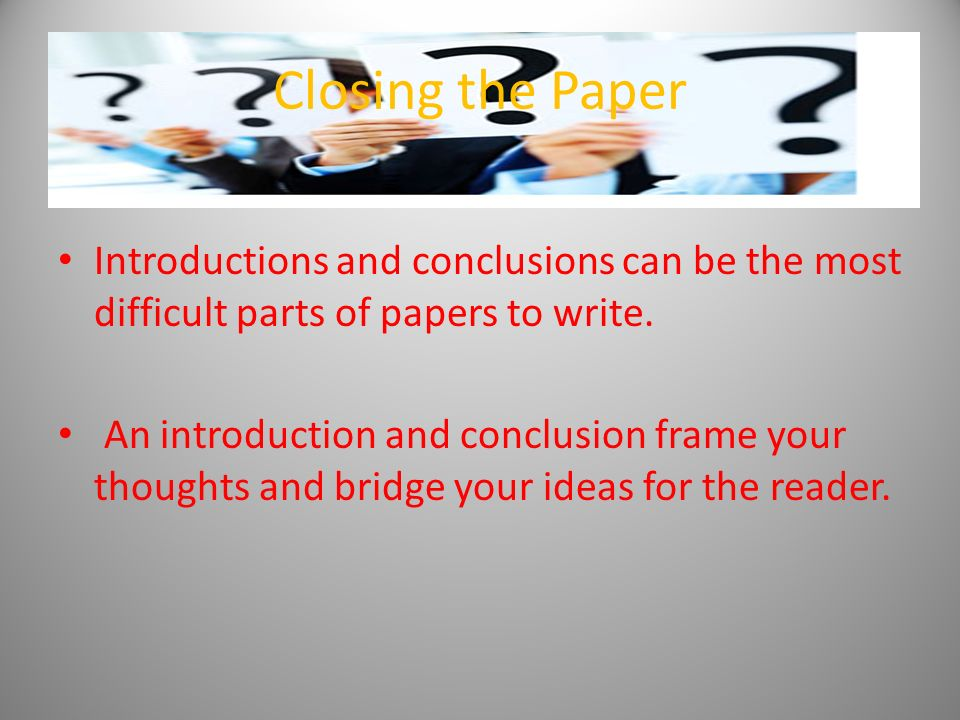 What is a good introduction and conclusion for my essay?