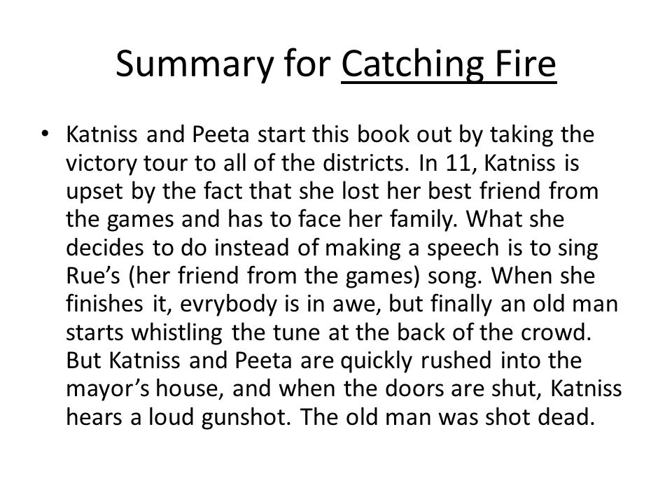 catching fire essay question