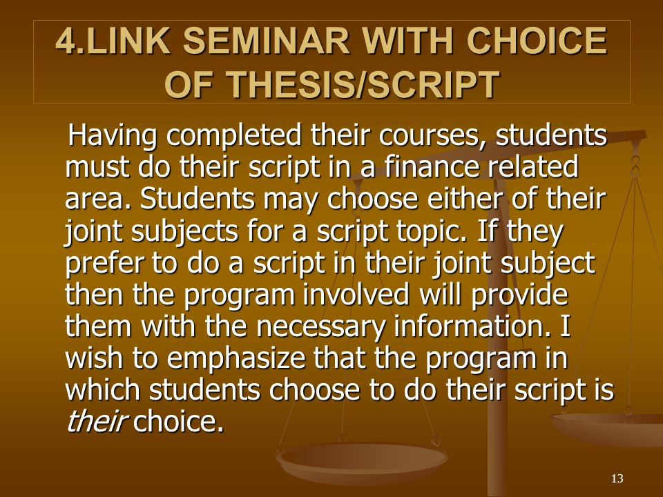 Thesis Guidelines for the College of Business