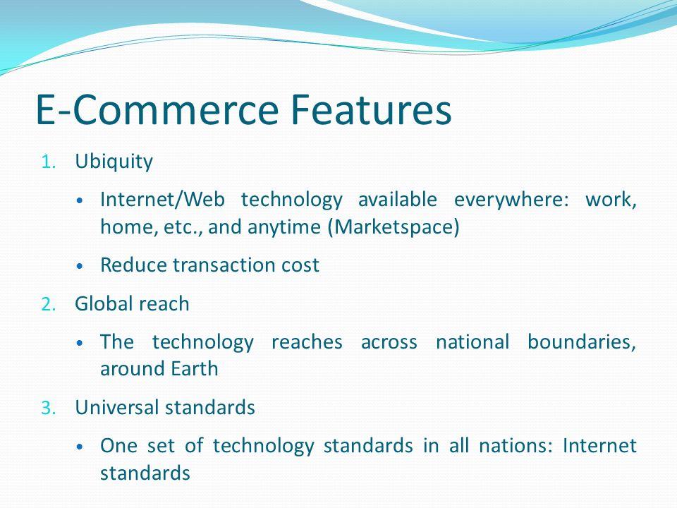 E-Commerce Features 1.