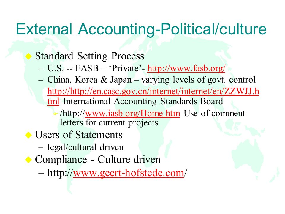 Bringing International Accounting Issues into the Classroom Sue ...