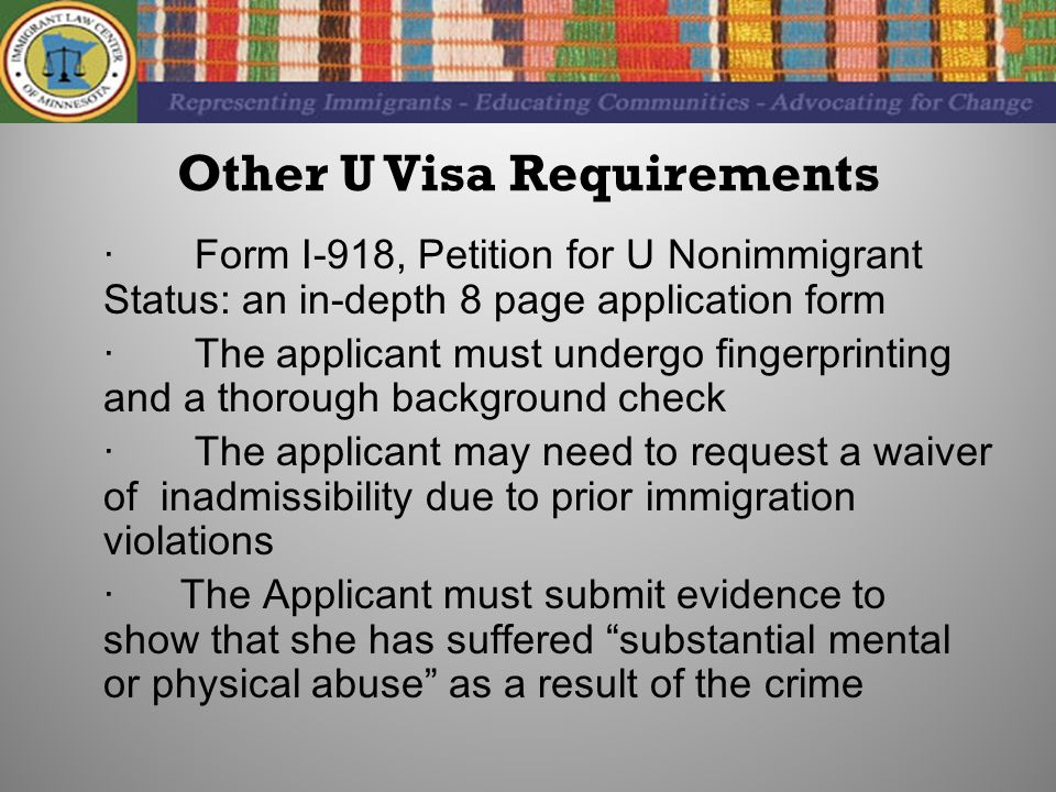 The U Visa for Immigrant Crime Victims Immigrant Law Center of ...