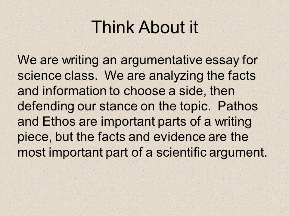 scientific argumentative essay Here is the list of the most popular argumentative essay topics of 2017 you can either use any of these topics for your essay or get one written for you from scratch.