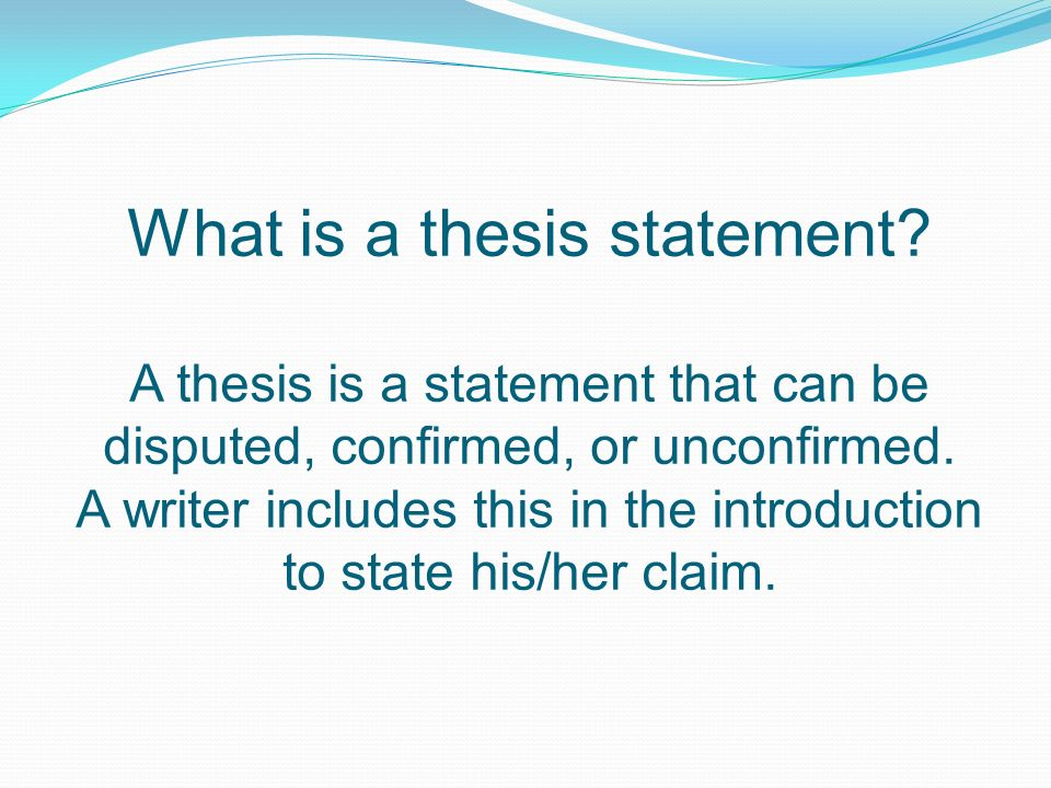 Argumentative Essay Thesis Statement