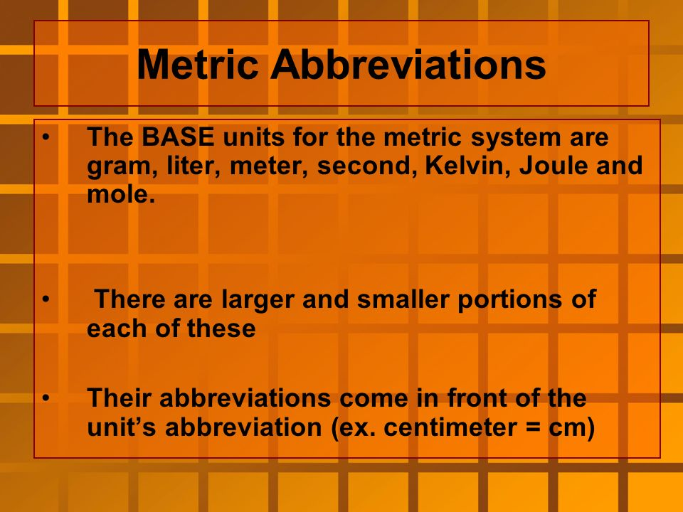 English to Metric Comparisons Which is larger.