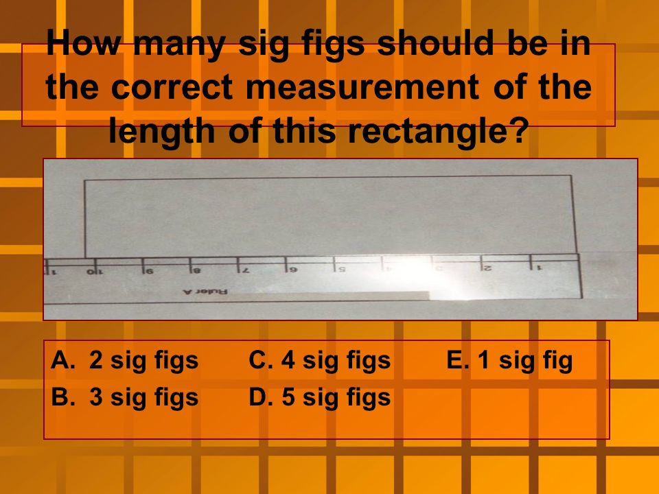 Measure the length of the rectangle using the correct number of sig figs.