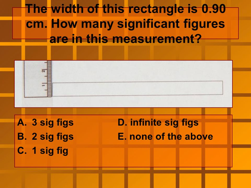 How many sig figs should be in the correct measurement of the length of this rectangle.