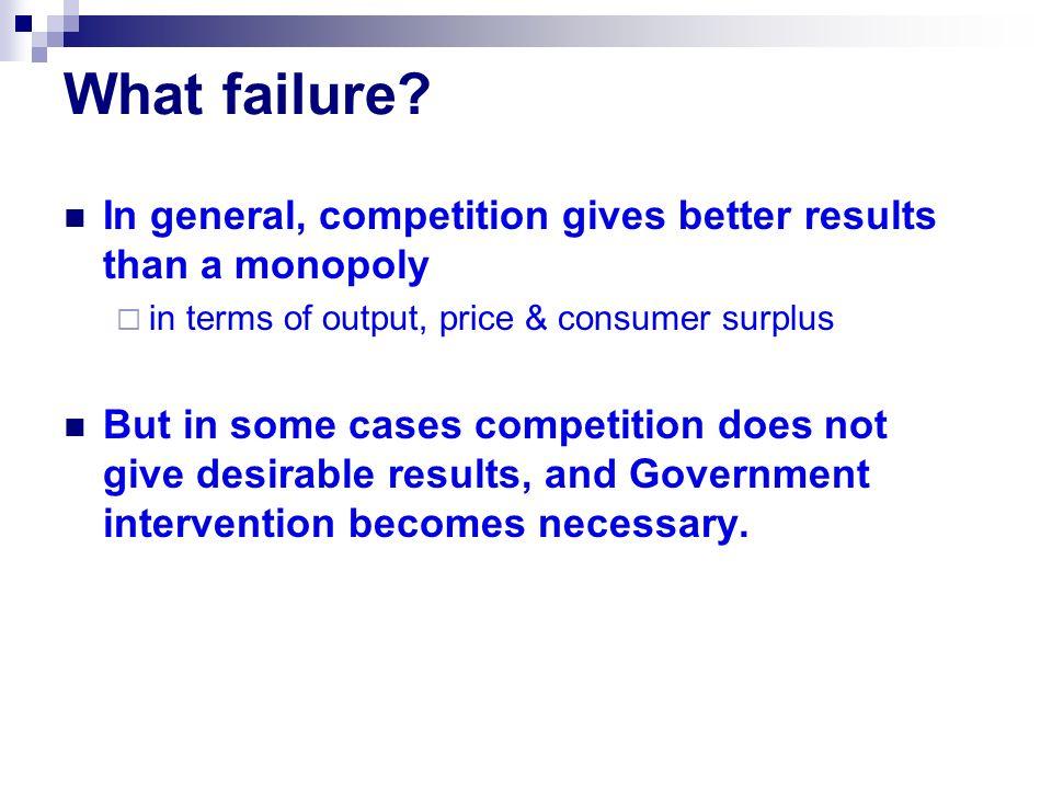 What failure.