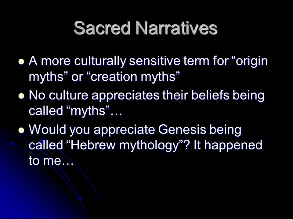 myths and narratives the origin of