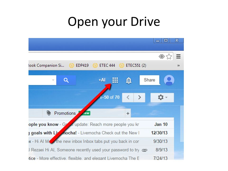 Open your Drive
