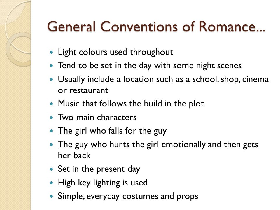 General Conventions of Romance...