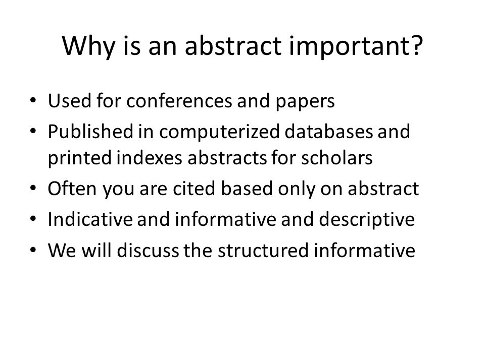 Could you please proofread this abstract?