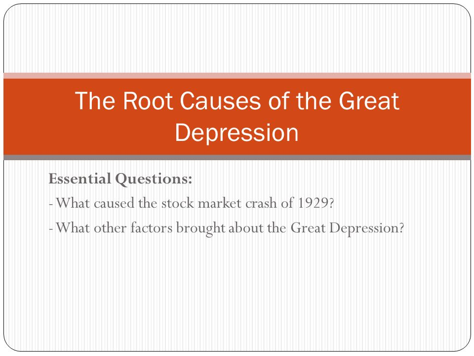"understanding the causes and effects of the great depression Its social and cultural effects were no less staggering, especially in the united states, where the great depression represented the harshest adversity faced by americans since the civil war great depression ""the unemployed, the soup kitchens, the grinding poverty, and the despair""—the worldwide consequences of the great depression."