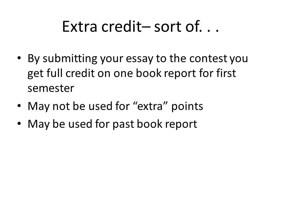 math extra credit essay