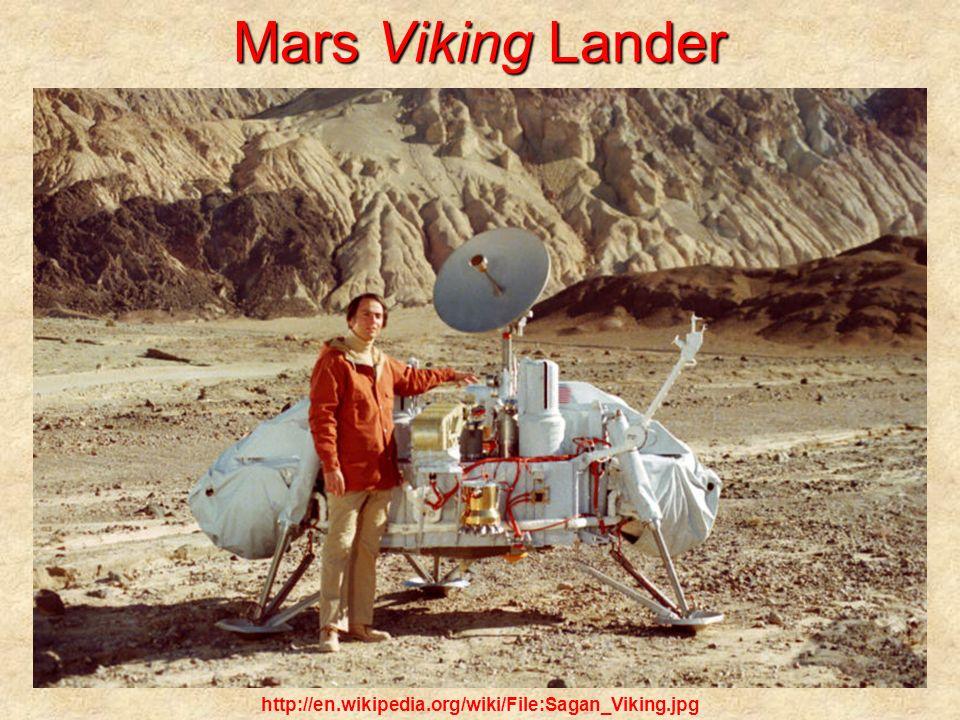 Mars Viking Lander http://en.wikipedia.org/wiki/File:Sagan_Viking.jpg