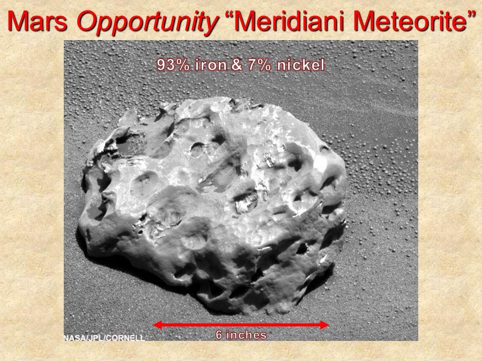 Mars Opportunity Meridiani Meteorite
