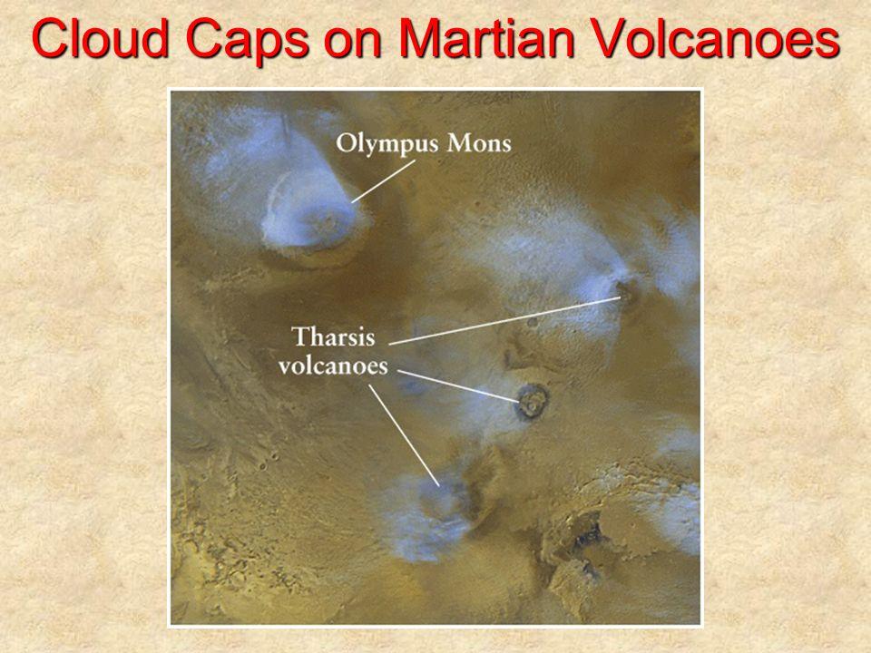 Cloud Caps on Martian Volcanoes