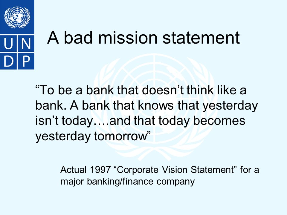 Bad mission statements
