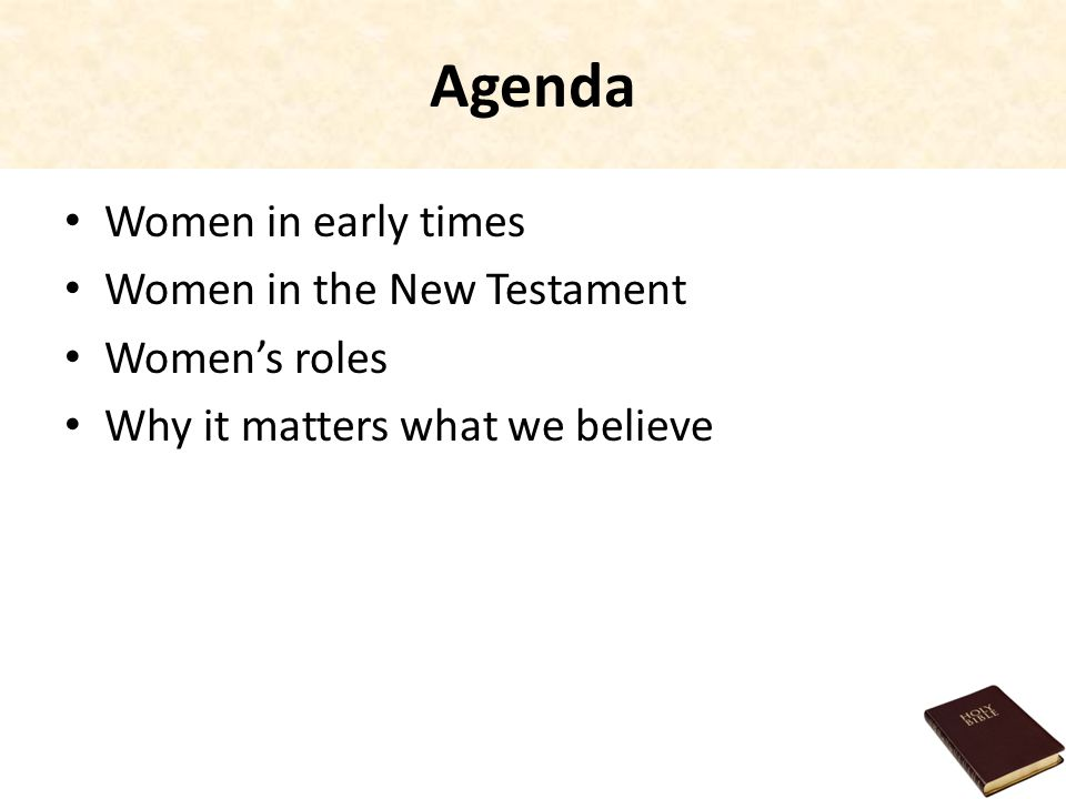 agenda with times