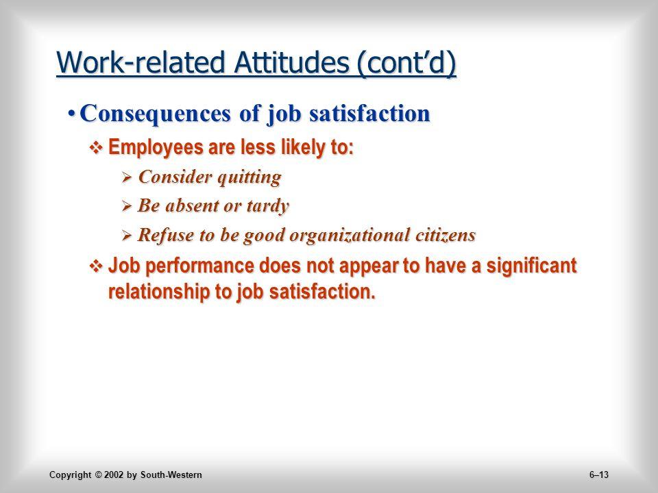 Copyright   By SouthWestern  Chapter  Attitudesattitudes
