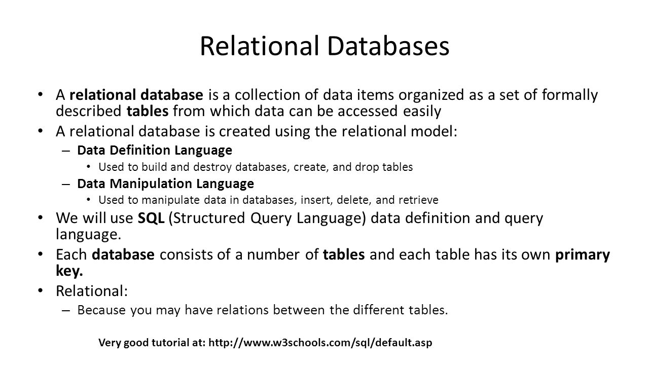 Practical session 13 structured data bases structured query 2 relational databases baditri Image collections