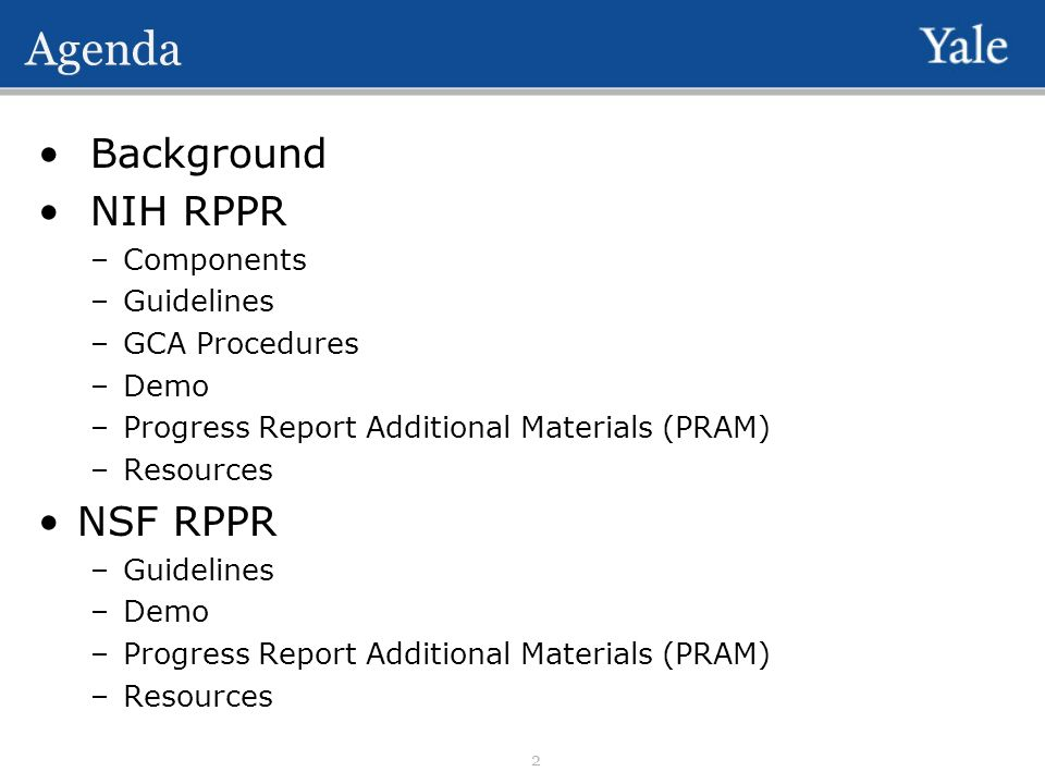 research performance progress report