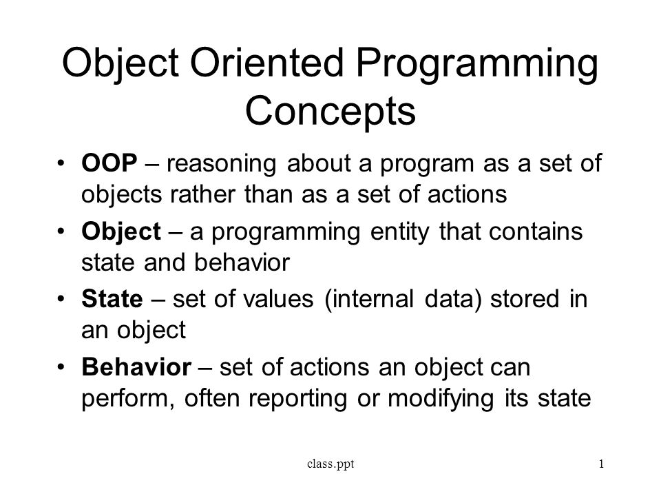 Objectoriented programming  Wikipedia