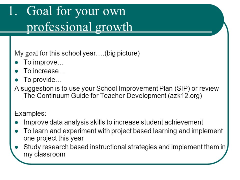 Professional Growth Plan  Professional Development Guide  Ppt