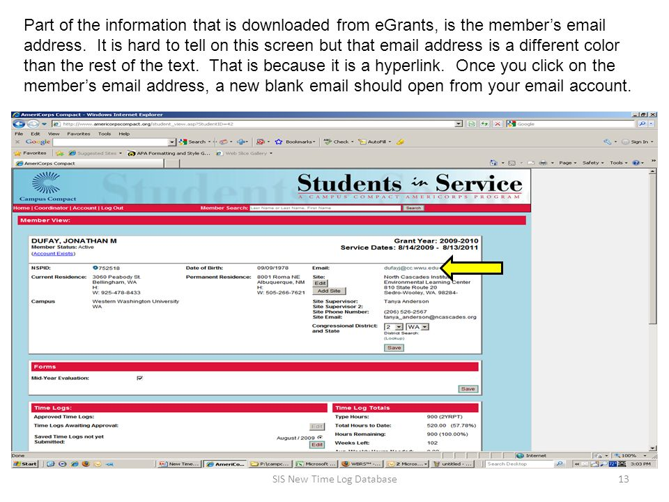 Part of the information that is downloaded from eGrants, is the member's  address.