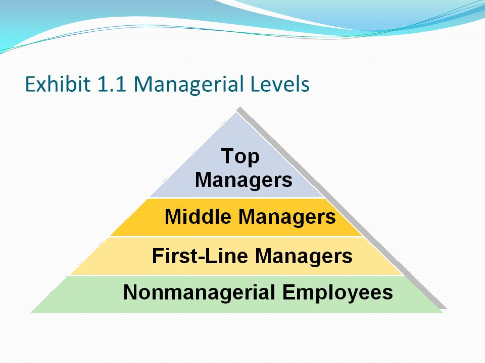 Exhibit 1.1 Managerial Levels