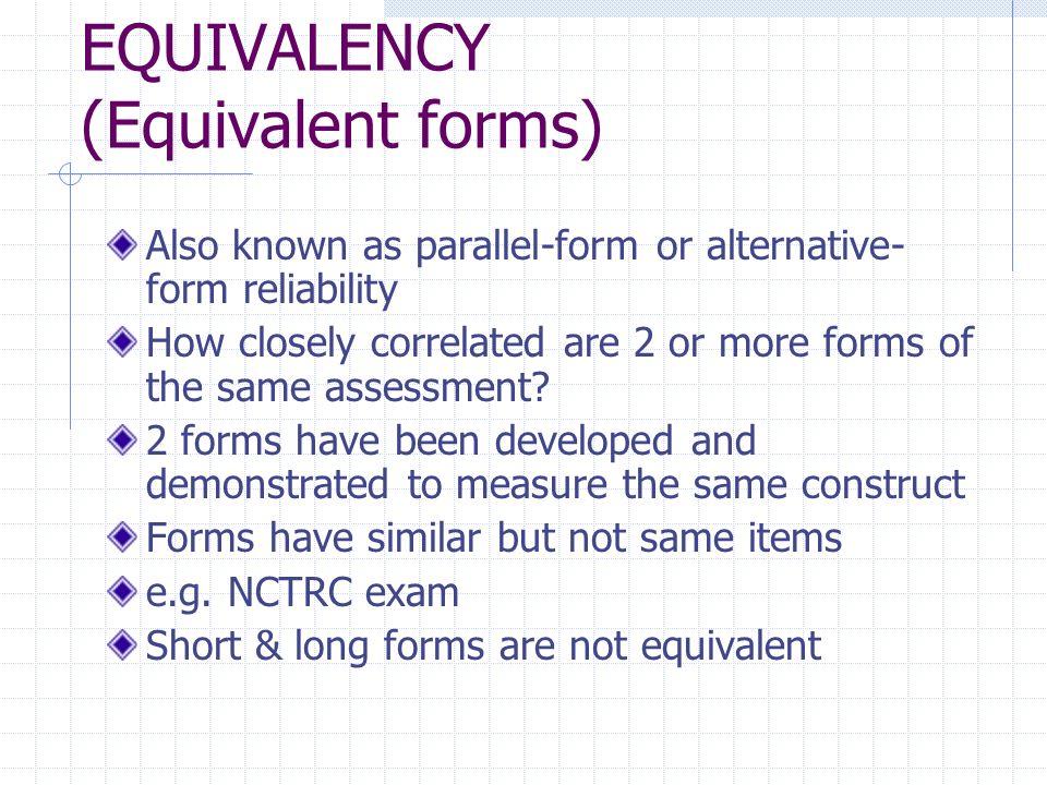 MEASUREMENT CHARACTERISTICS Error & Confidence Reliability ...