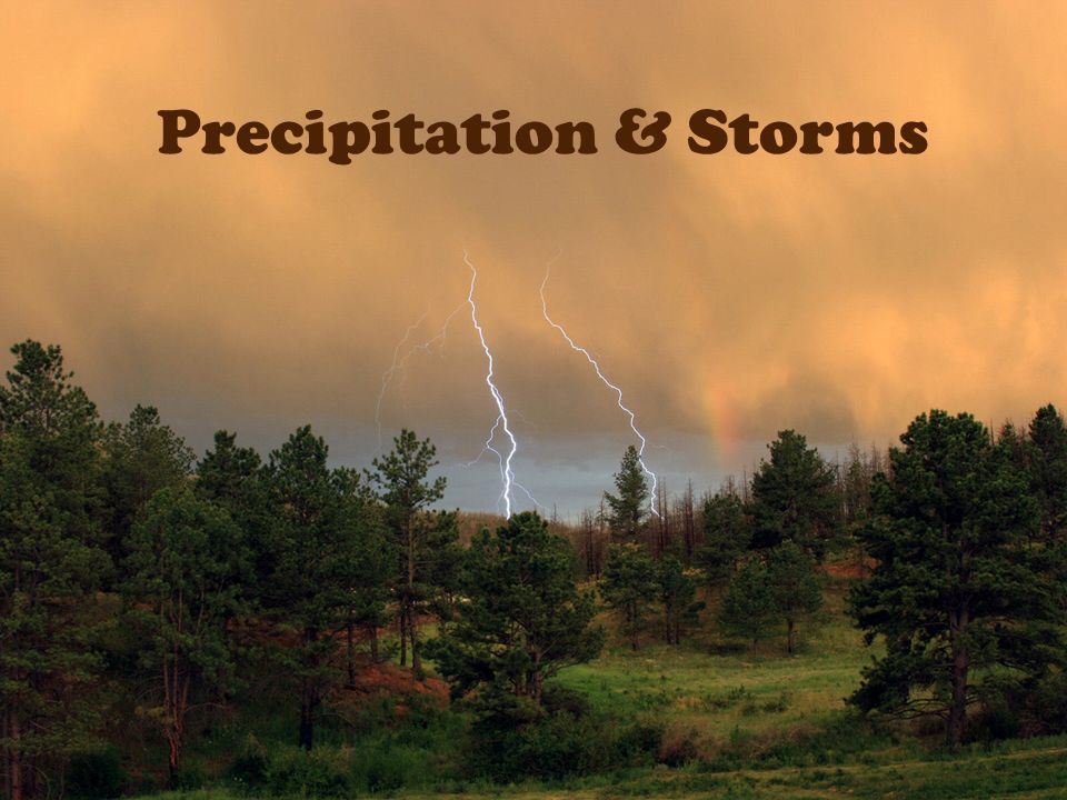 Precipitation & Storms