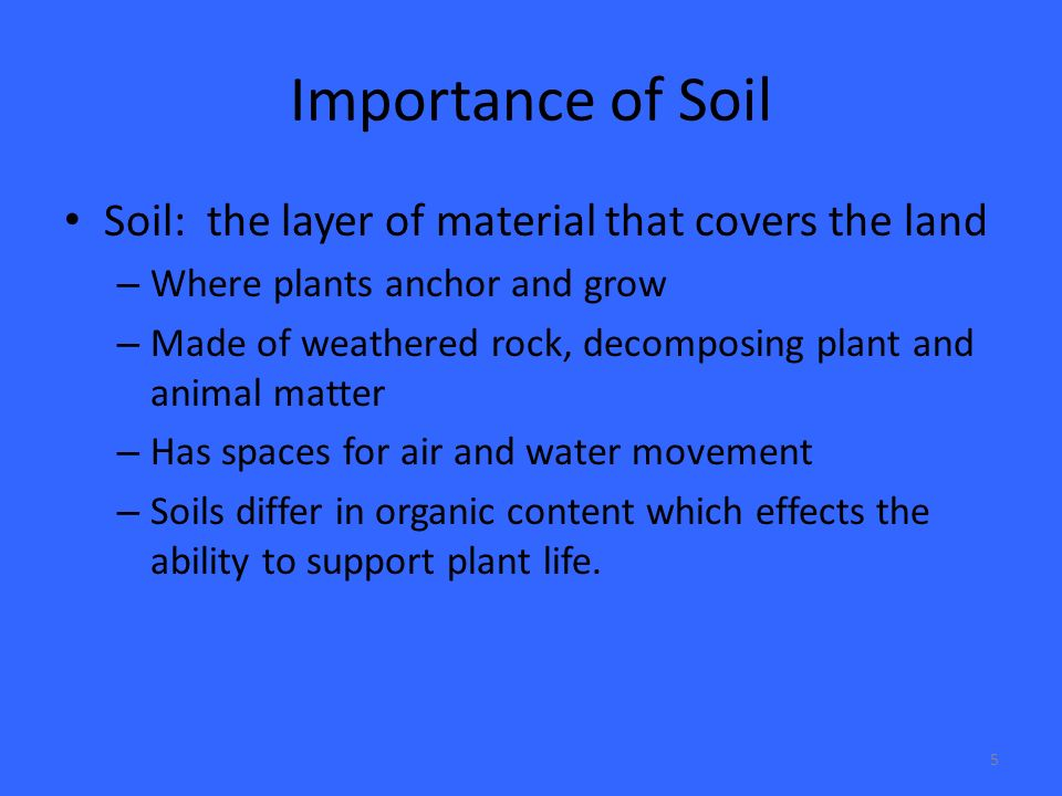 the importance of soil quality and conservation Soil protection: protecting the soil quality focuses not just on protecting and enhancing soil quality is accomplished through the use of soil conservation.