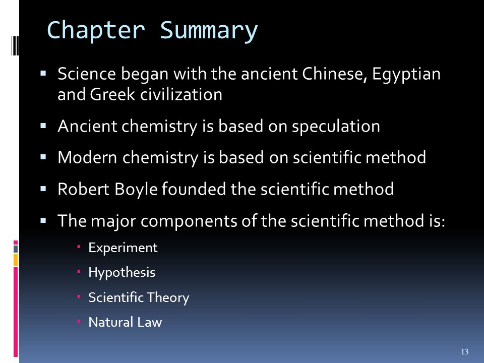 What is a natural law in chemistry?