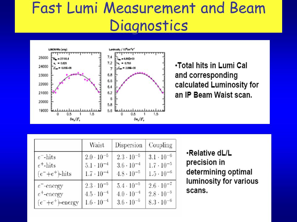 Fast Lumi Measurement and Beam Diagnostics