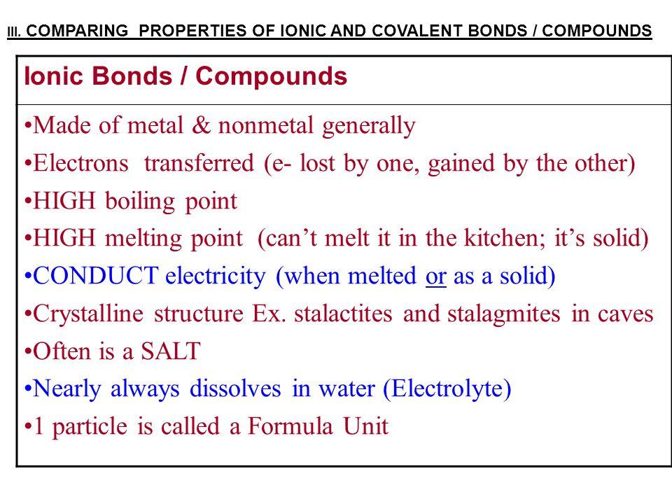 Covalent Compounds & Molecule Shapes I. IONIC COMPOUNDS >How are ...