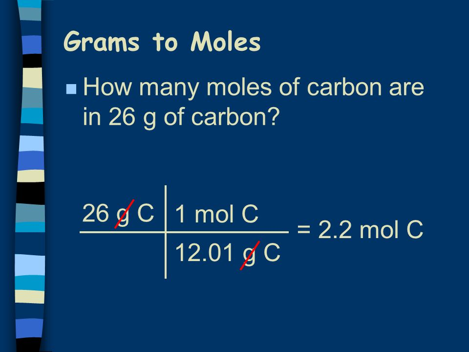 Molar Conversions (Road Map) molar mass (g/mol) Gram Gardens Mole Island Particle Palace 6.02  (particles/mol)