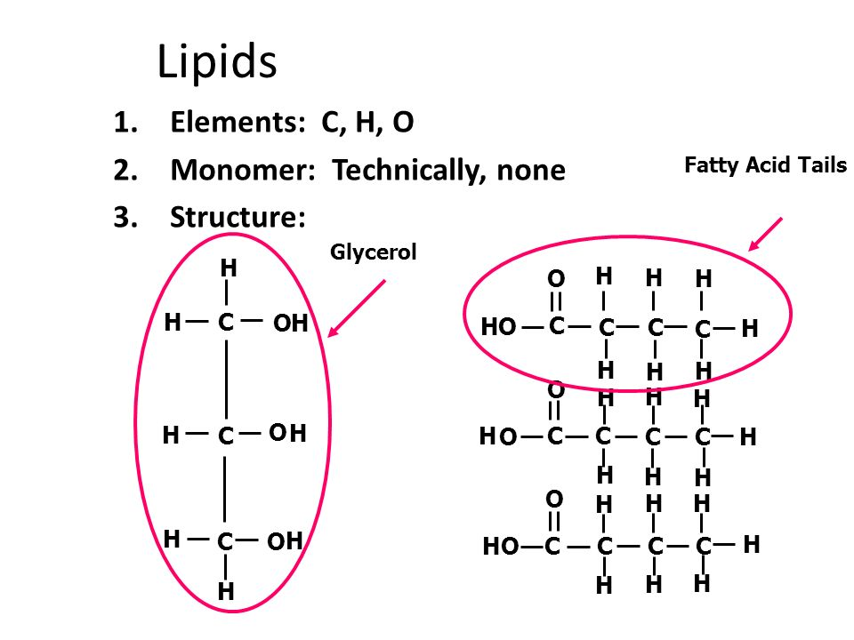 What elements are present in glycerol?