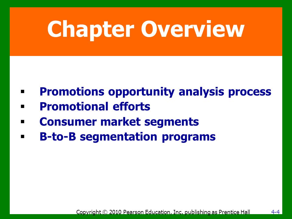 Chapter Overview Copyright © 2010 Pearson Education, Inc.