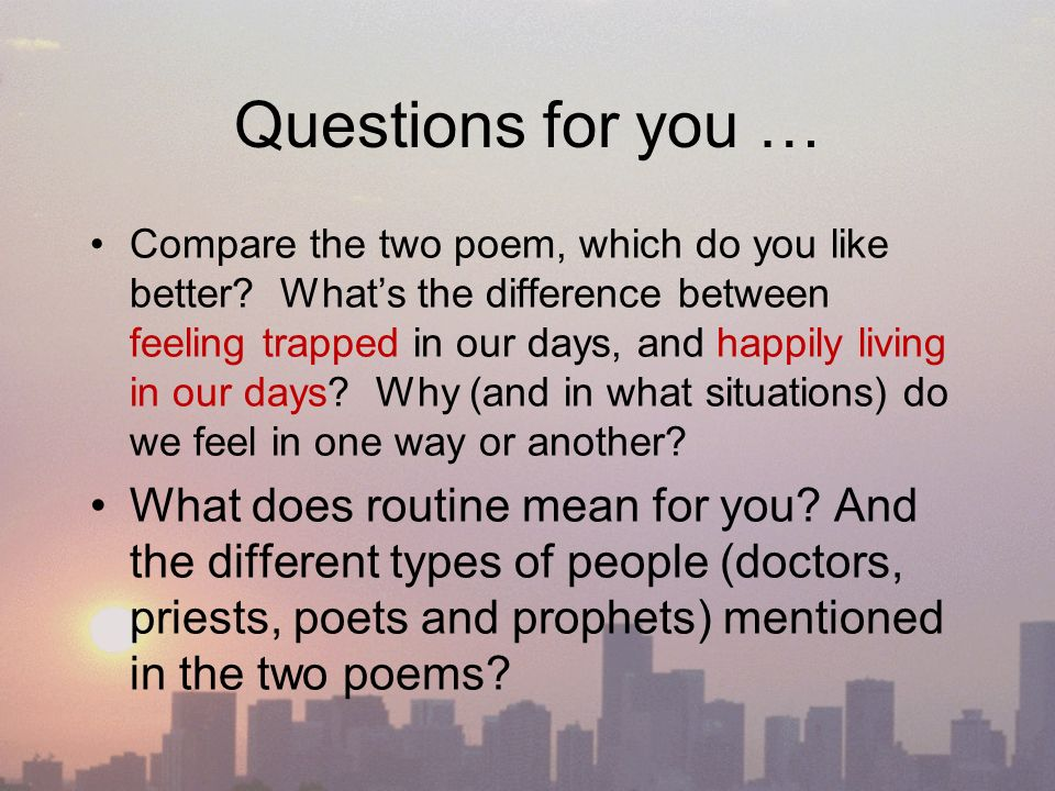 a comparison between two poems