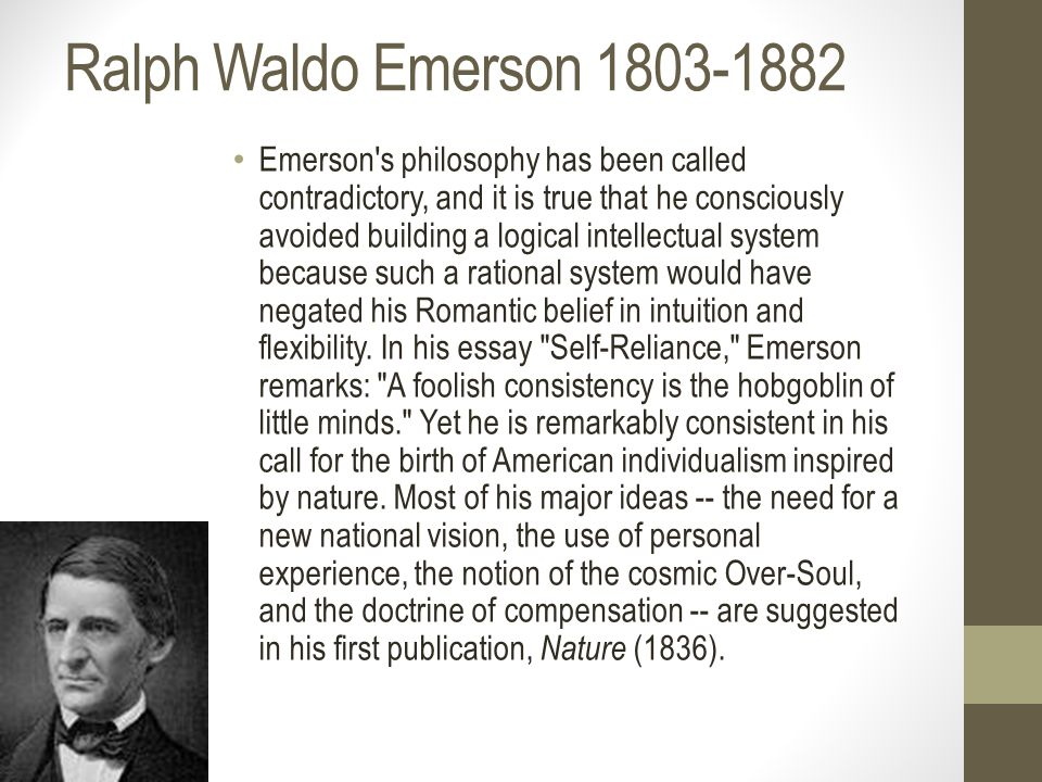 Why does emerson belongs to the romantic period?