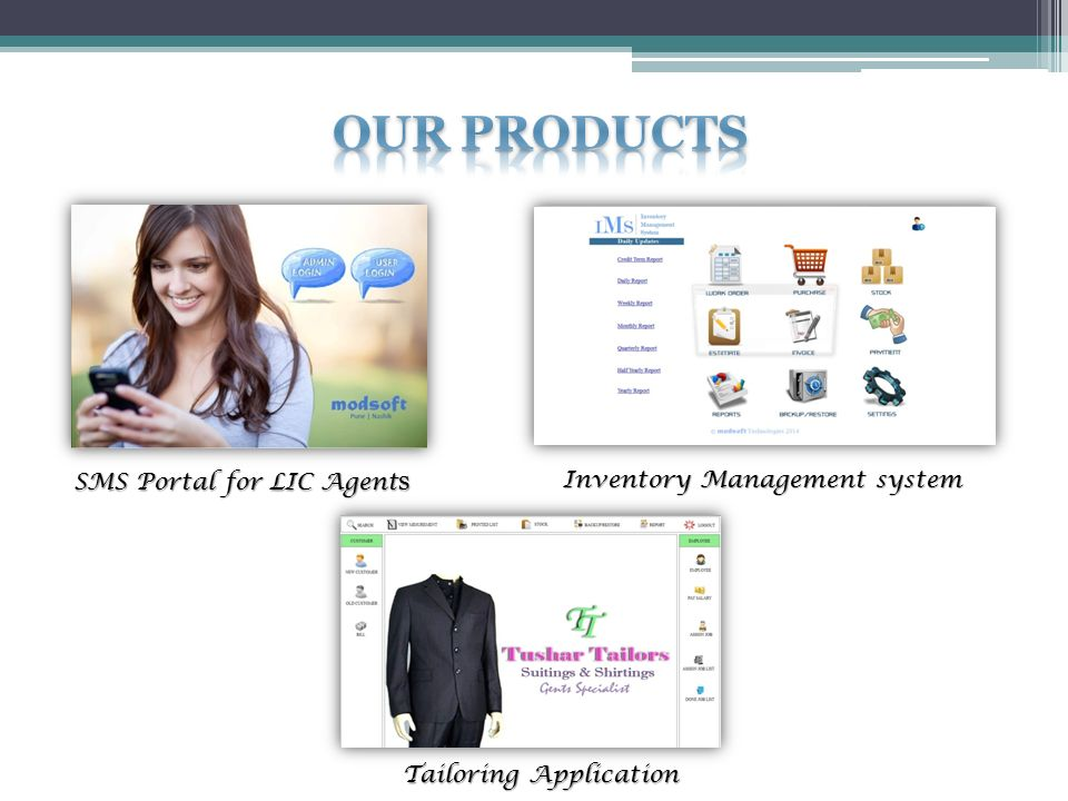 SMS Portal for LIC Agent s Inventory Management system Tailoring Application
