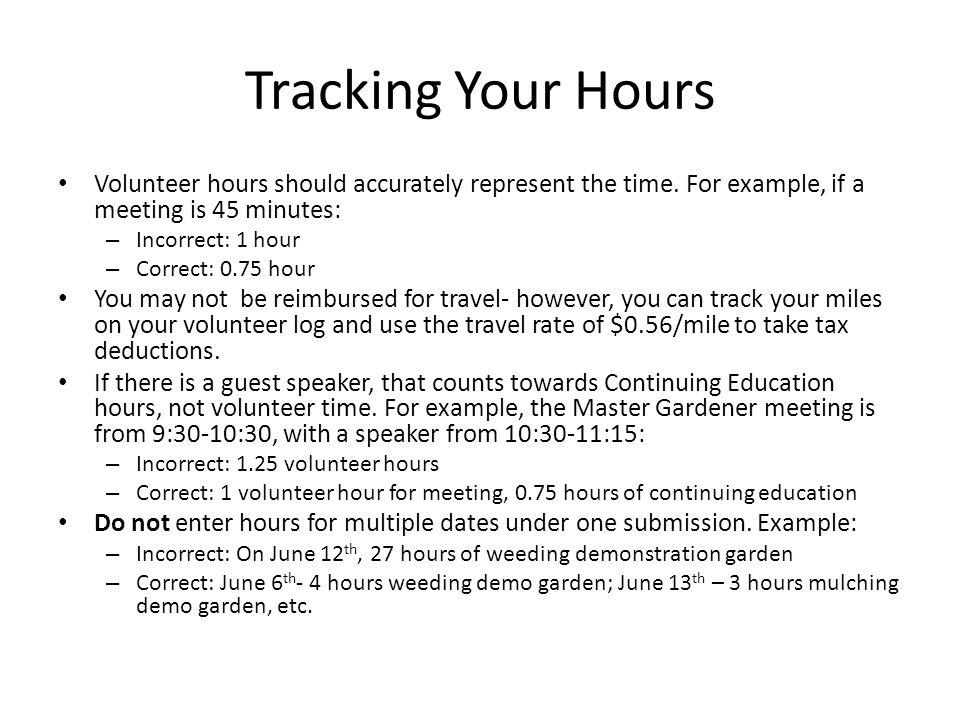 volunteer time tracking