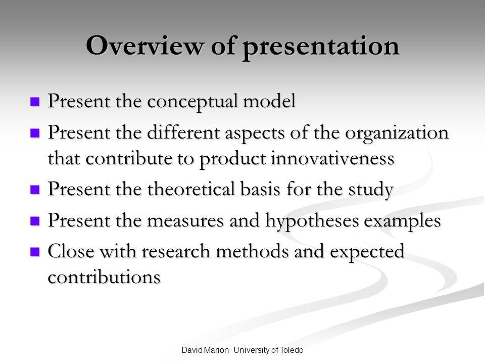 Economic hypothesis examples