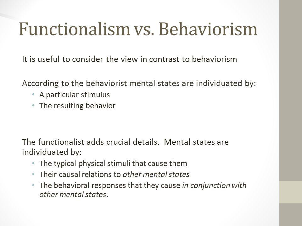 Functionalism vs.